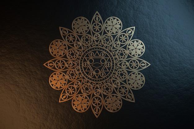 Mandala de metal dourado