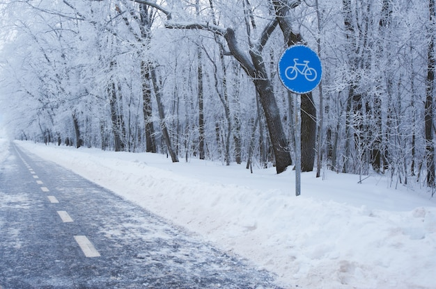 Maneira do ciclo do inverno