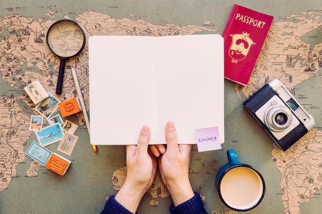 Manejo de turismo aberto no bloco de anotações