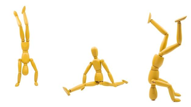 Manequim clássico com diferentes posturas