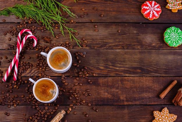 Manhã de natal com café perfumado