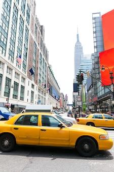 Manhattan new york new york city táxi amarelo nos