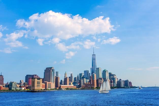 Manhattan skyline nova iorque sol nos