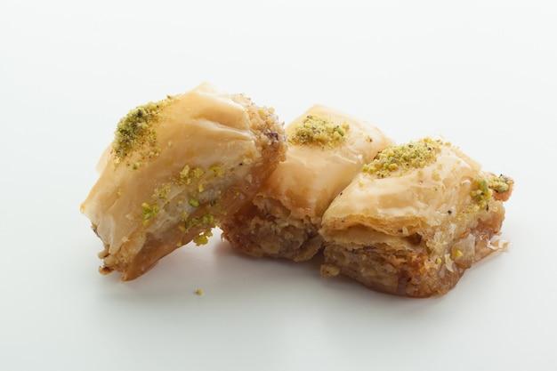 Manjar turco saboroso isolado