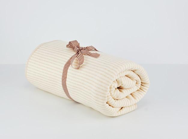 Manta de algodão bege natural para bebê