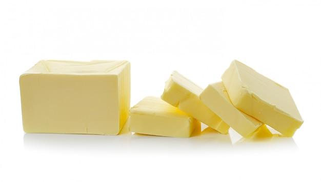 Manteiga em branco isolado