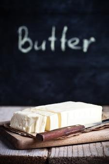 Manteiga fresca e quadro negro
