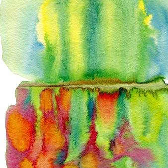 Mão abstrata extraídas fundo aquarela. primavera pintando a textura colorida.