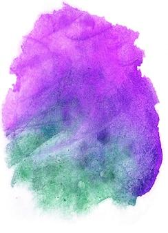 Mão abstrata pintada em aquarela fundo molhado colorido em papel