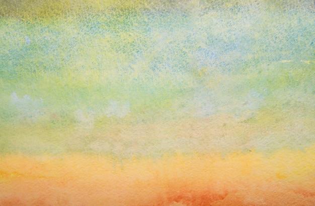 Mão abstrata pintado fundo aquarela.