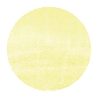 Mão amarela desenhado em aquarela moldura circular