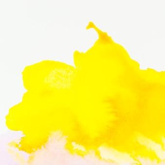 Mão amarela pintada em aquarela de fundo