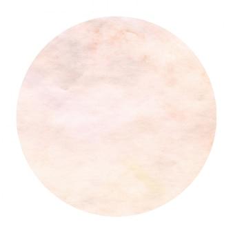 Mão amarela quente desenhada textura de fundo quadro aquarela circular com manchas