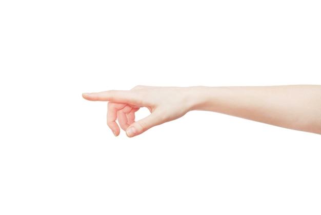 Mão apontando isolada