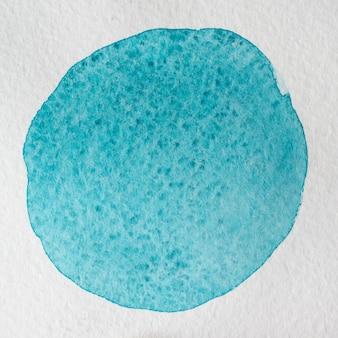 Mão azul ciano pura desenhada fundo quadrado aquarela círculo abstrato. espaço para texto, rotulação, cópia. modelo de cartão postal.