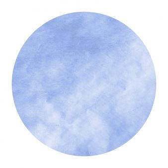 Mão azul desenhada textura de fundo quadro aquarela circular com manchas