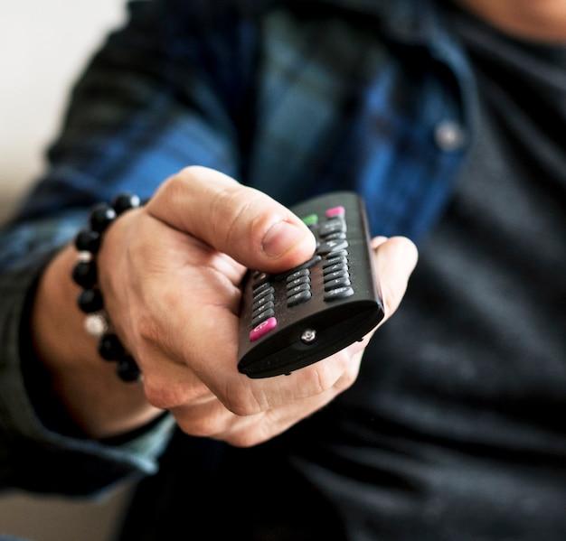 Mão, carregar, remoto, controlador
