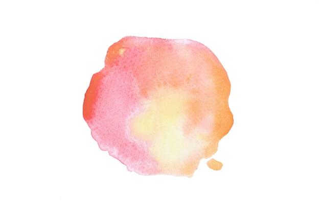 Mão colorida abstrata desenhar forma de aquarela.