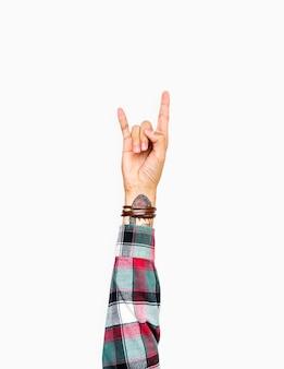 Mão, com, amor, expressão, gesto