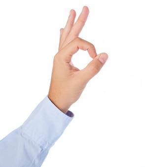 Mão com gesto excelente