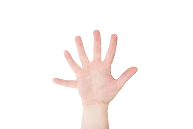 Mão com seis dedos