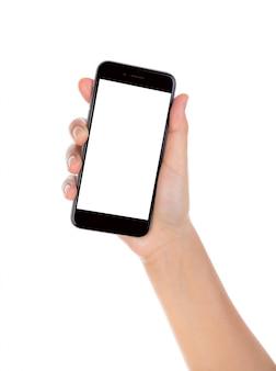 Mão com smartphone