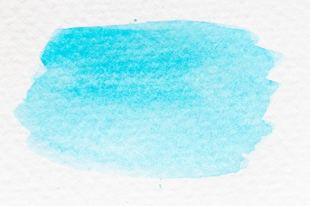 Mão de aquarela ciano ou azul claro cor desenhada como pincel ou banner