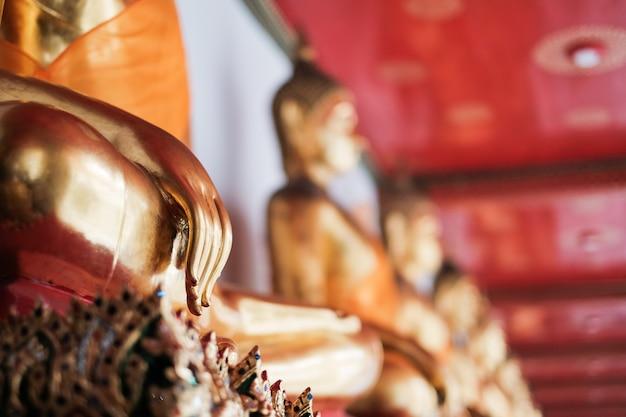 Mão, de, buddha, em, templo