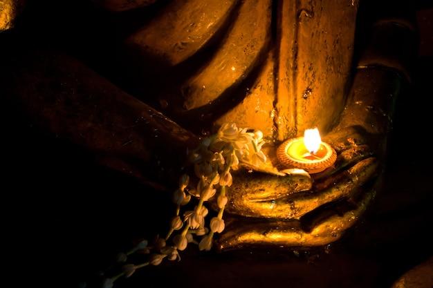 Mão, de, buddha, imagem