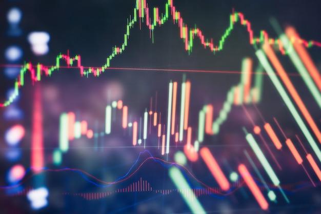 Mão de empresário trabalhando na análise de gráficos de investimento para o mercado de ouro, mercado forex e mercado de negociação.