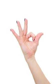 Mão de mudra de ioga feminina