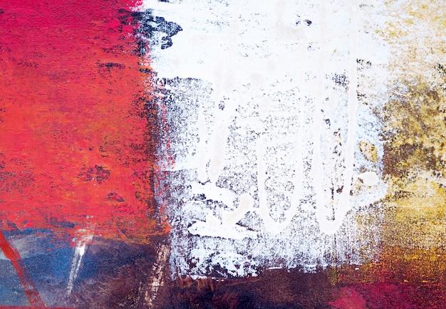 Mão de pintura a óleo colorida desenhar fundo abstrato.