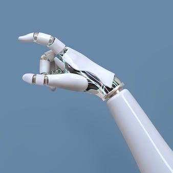 Mão de robô 3d, tecnologia ai