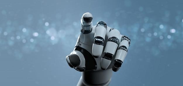 Mão de robô ciborgue - renderização em 3d