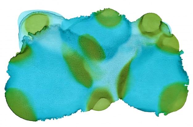 Mão de tinta abstrato. fundo de água azul para capa.