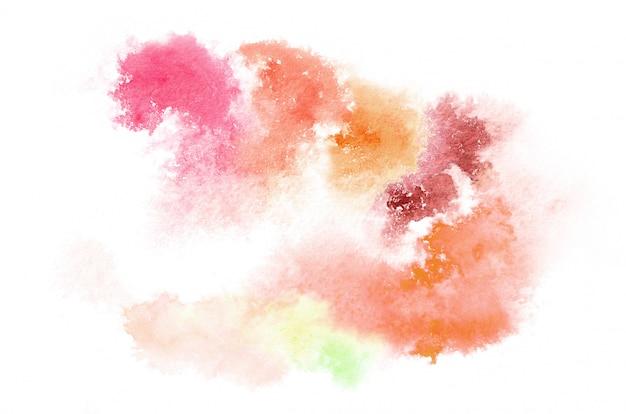 Mão desenhada em forma de aquarela em tons quentes para seu projeto
