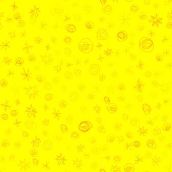 Mão desenhada flocos de neve sem costura padrão de natal. flocos de neve voando sutis em flocos de neve de giz fundo. sobreposição de neve handdrawn giz atraente. decoração emocional da temporada de férias.