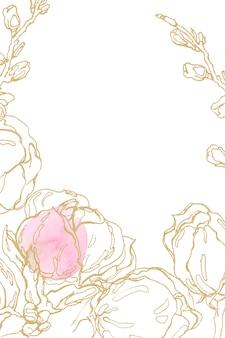 Mão desenhada flores gráficas.