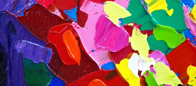 Mão desenhada pintura a óleo. pintura a óleo sobre tela.