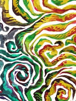 Mão desenhando um fundo de estilo africano selvagem brilhante. impressão têxtil ornamentado aquarela vermelho boho safari moda. ilustração tribal do ornamento da girafa zebra tribal.
