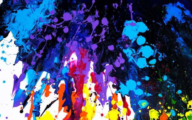 Mão desenhar abstrato colorido pintura.