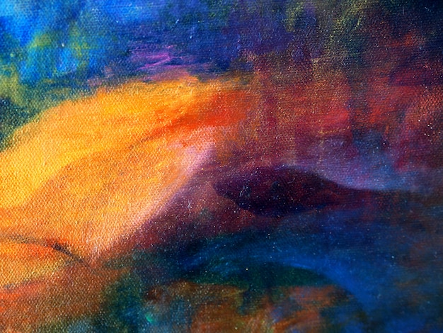 Mão desenhar colorido pintura a óleo abstrato.
