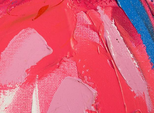 Mão desenhar cor rosa pintura abstrata textura.