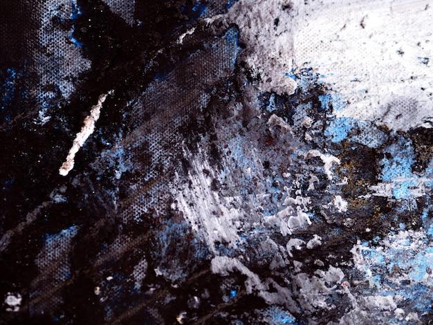 Mão desenhar óleo colorido pincel pintura traço abstrato e textura.