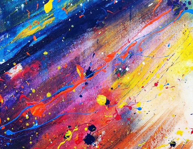 Mão desenhar pintura em aquarela colorida abstrata