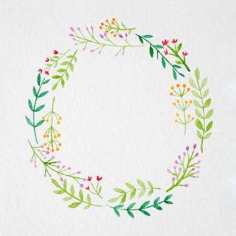 Mão, desenho, flores, aguarela, estilo, branca, papel, fundo