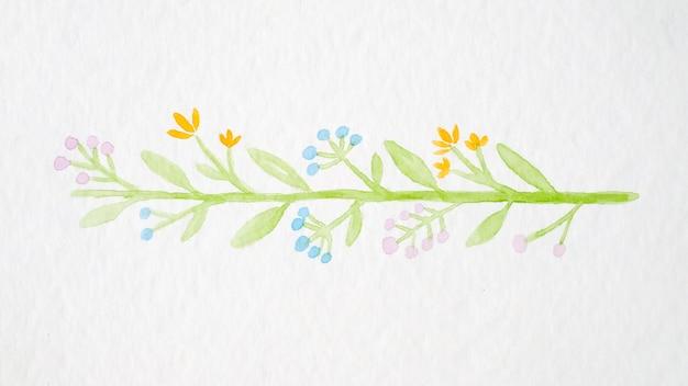 Mão, desenho, flores, buquê, aquarela, estilo, branca, papel, fundo