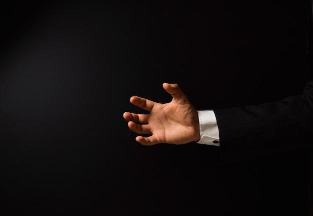 Mão do empresário