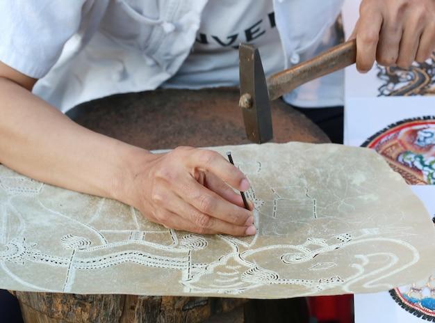 Mão fazendo jogo de sombras, tailândia