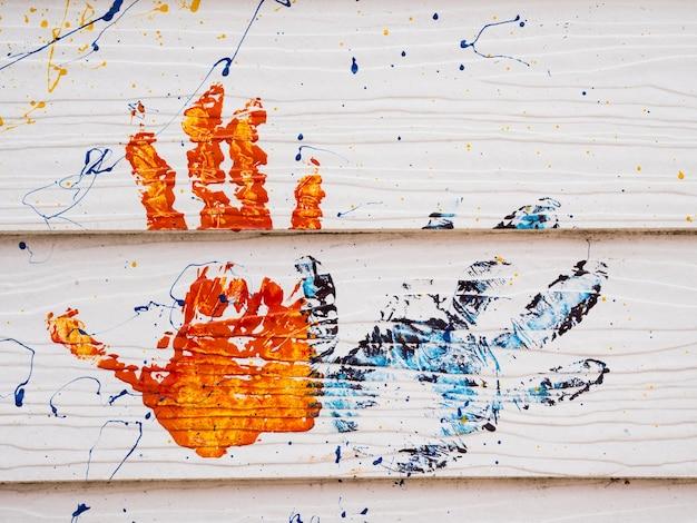 Mão impressão colorida